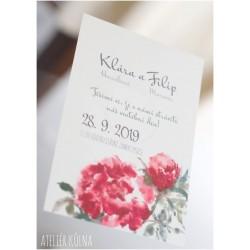 No.163 (svatební oznámení-jednoduchá karta)