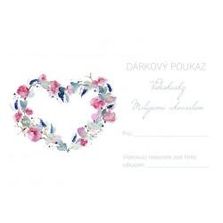 DÁRKOVÝ POUKAZ na on-line kurz akvarelu (srdce)