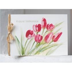 Velikonoční přání *Tulipány II*