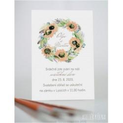 Svatební oznámení *Poklidný čas* (No.217, karta)