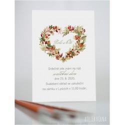 Svatební oznámení *Barvy v nás* (No.218, karta)