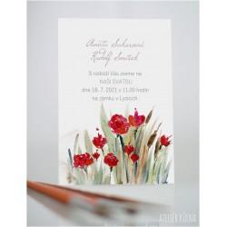 Svatební oznámení *Růžičky* (No.223, karta)
