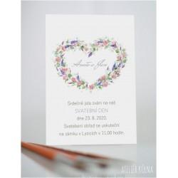 Svatební oznámení *Romantika* (No.224, karta)