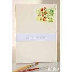 Dopisní papír & monogram *Vůně léta* (10ks)
